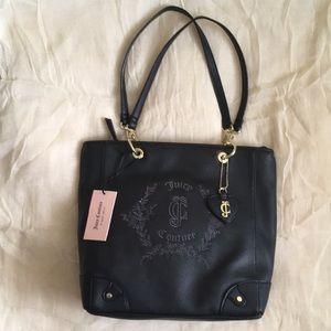 Juicy Couture Black Floral Crest Handbag